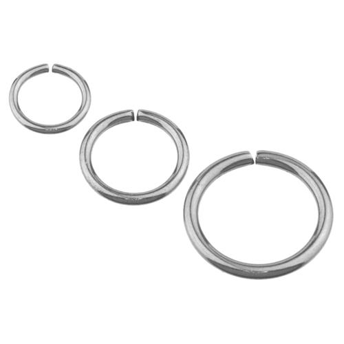 Surgical steel fake nose rings steel clip on nose hoop 18 for Types of body jewelry rings