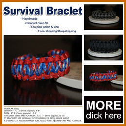Wholesale Paracord Survival Belt - Handmade plastic buckle multicolor rope belt Camping Paracord Cord Survival Bracelets