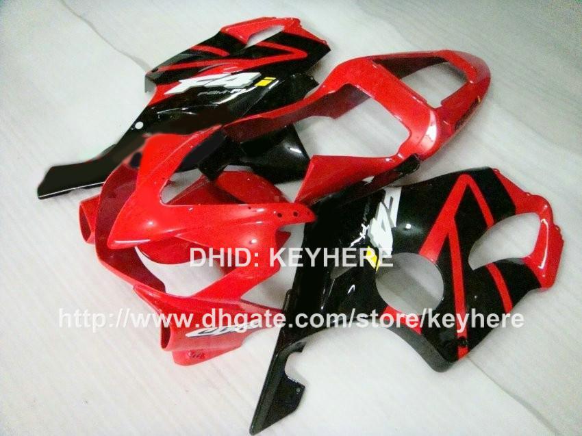 Kit de carenagem preto vermelho de alto grau para Honda CBR600 F4i 2001 2002 2003 cbr600 01 02 03 CBR600F4i 01 02 03 carroceria de motociclo RX4z
