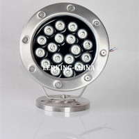 Wholesale 18W led underwater spotlight Buried lights Landscape fountain lawn light outdoor light pool pond12V