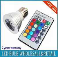 Wholesale Remote Control Bulb 16 Color - Free shipping holiday promotion sale 5W E27 MR16 GU10 E14 RGB led light Remote Control LED Bulb 16 Color Changing