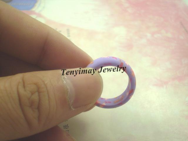 Mezcla de arcilla polimérica anillos de 6 mm de ancho anillo para niños al por mayor envío gratis