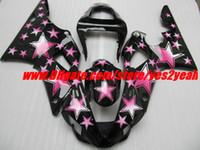 carenagens rosa preto r1 venda por atacado-Kit de Carenagem de Estrelas Cor-de-Rosa para YAMAHA YZF R1 YZF-R1 2000 2001 YZF1000 YZFR1 00 01 Carenagens + 7gifts