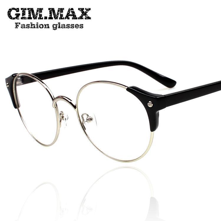 b91ba67d22 Gimmax Eyeglasses Frame Vintage Circle Black Rimmed Glasses. Plain Black  Picture Frames Impremedia Net. Black Frames With ...