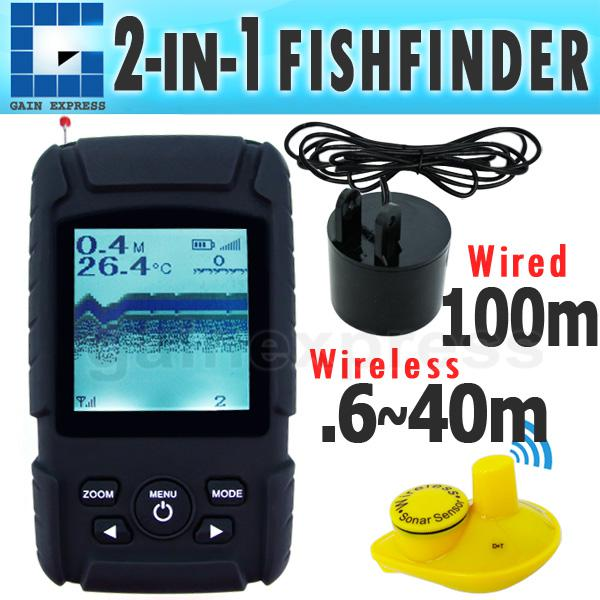 Ff718li portable digital 2 in 1 fish finder fishfinder for 1 fish 2 fish store