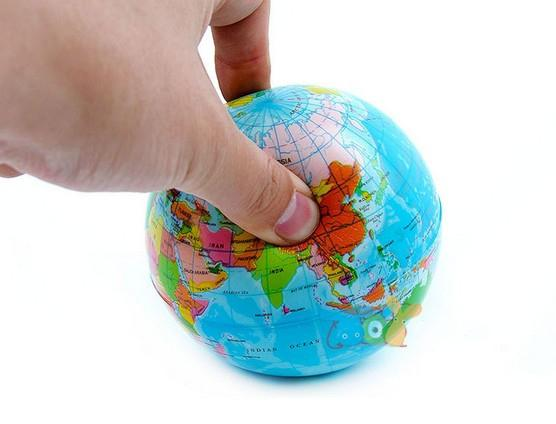 World map foam earth globe stress relief bouncy ball atlas geography world map foam earth globe stress relief bouncy ball atlas geography baby toy gifts gumiabroncs Gallery