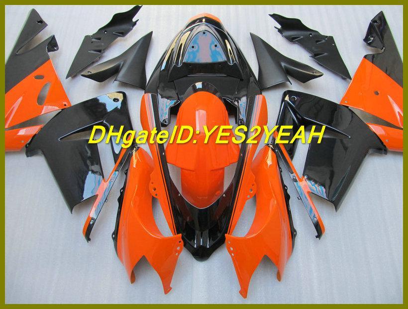 Oranje Black Fairing Kit voor Kawaaki Ninja ZX10R ZX-10R 10R 04 05 ZX 10R 2004 2005 Valerijen Set + 7Gifts