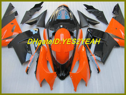 Orange Black Fairing kit para KAWAAKI Ninja ZX10R ZX-10R 10R 04 05 ZX 10R 2004 2005 Carenagens + 7gifts