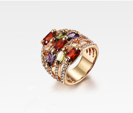 Wholesale Swarovski Jewelry Rose Gold - 2013 Fashion Rings Jewelry Ring Austria swarovski Crystal 18K Gold-Plated ring CZ Rhinestone 18KRGP RINGS Palace rings Rose gold color