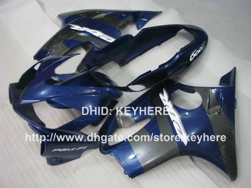 Blue black fairing kit for Honda CBR600 F4i 2004 2005 2006 2007 cbr 600 CBRF4i 2004 2005 2006 2007 fairings motorcycle body work aftermarket