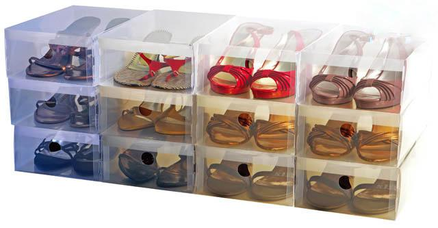2017 Clear Plastics Shoe Boxes Organizer Home Storage Foldable Box From  Linguoguo, $15.08 | Dhgate.Com