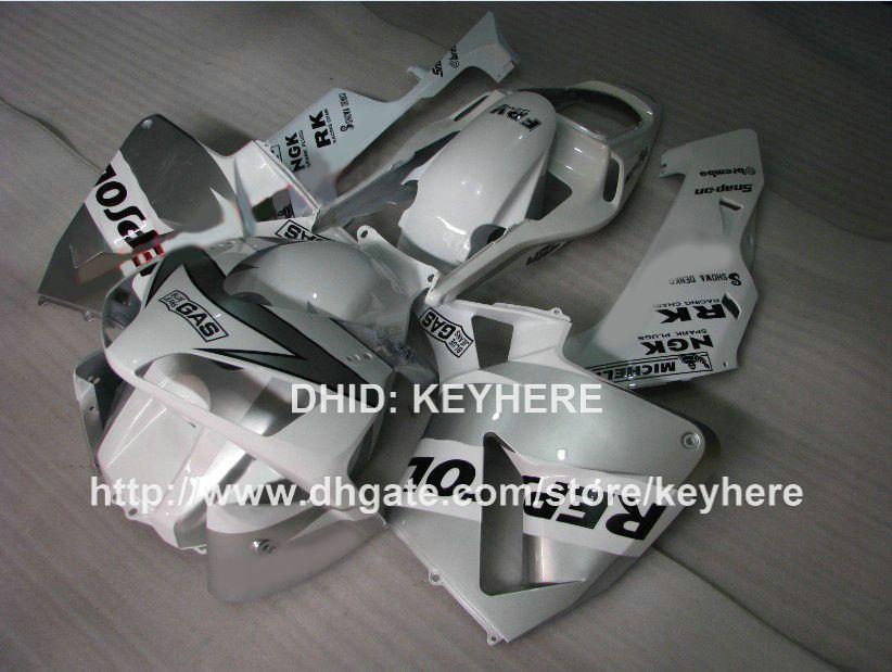 Carene moto Iniezione HONDA CBR 600RR 2003 2004 CBR600RR 03 04 F5 2003 2004 carenatura set vendita calda argento REPSOL carrozzeria set G2a