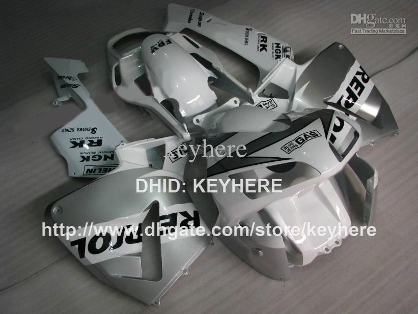 Motorcycle fairings Injection for HONDA CBR 600RR 2003 2004 CBR600RR 03 04 F5 2003 2004 fairing set hot sale silver REPSOL bodywork set G2a