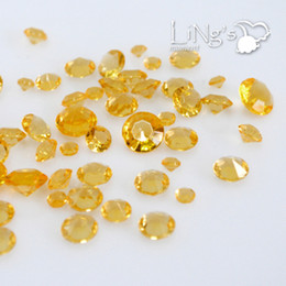 Wholesale Wedding Table Confetti Crystals - Hot Lowest price-Freeship-Tracking number-500pcs 4Carat 10mm Crystal diamond confetti wedding favor table scatter Wedding Supplies 583