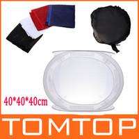 Wholesale Tent Soft Cube - Photo Studio soft box Softbox Cube Box,40 x 40cm photo light tent +portable bag + 4 Backdrops D856