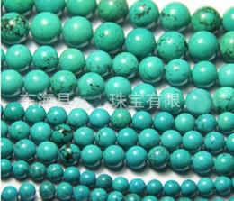 Vente en gros 4mm 6mm 8mm 10mm 12mm 14mm 16mm Perles Perles En Pierre Naturelle Perles Turquoise Bracelet DIY 100pcs