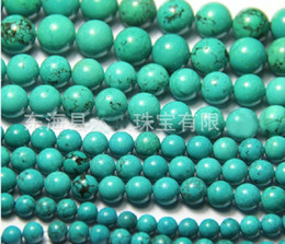 Wholesale 16mm Round Beads - 4mm 6mm 8mm 10mm 12mm 14mm 16mm Natural stone loose beads turquoise beads DIY Bracelet necklace 100pcs
