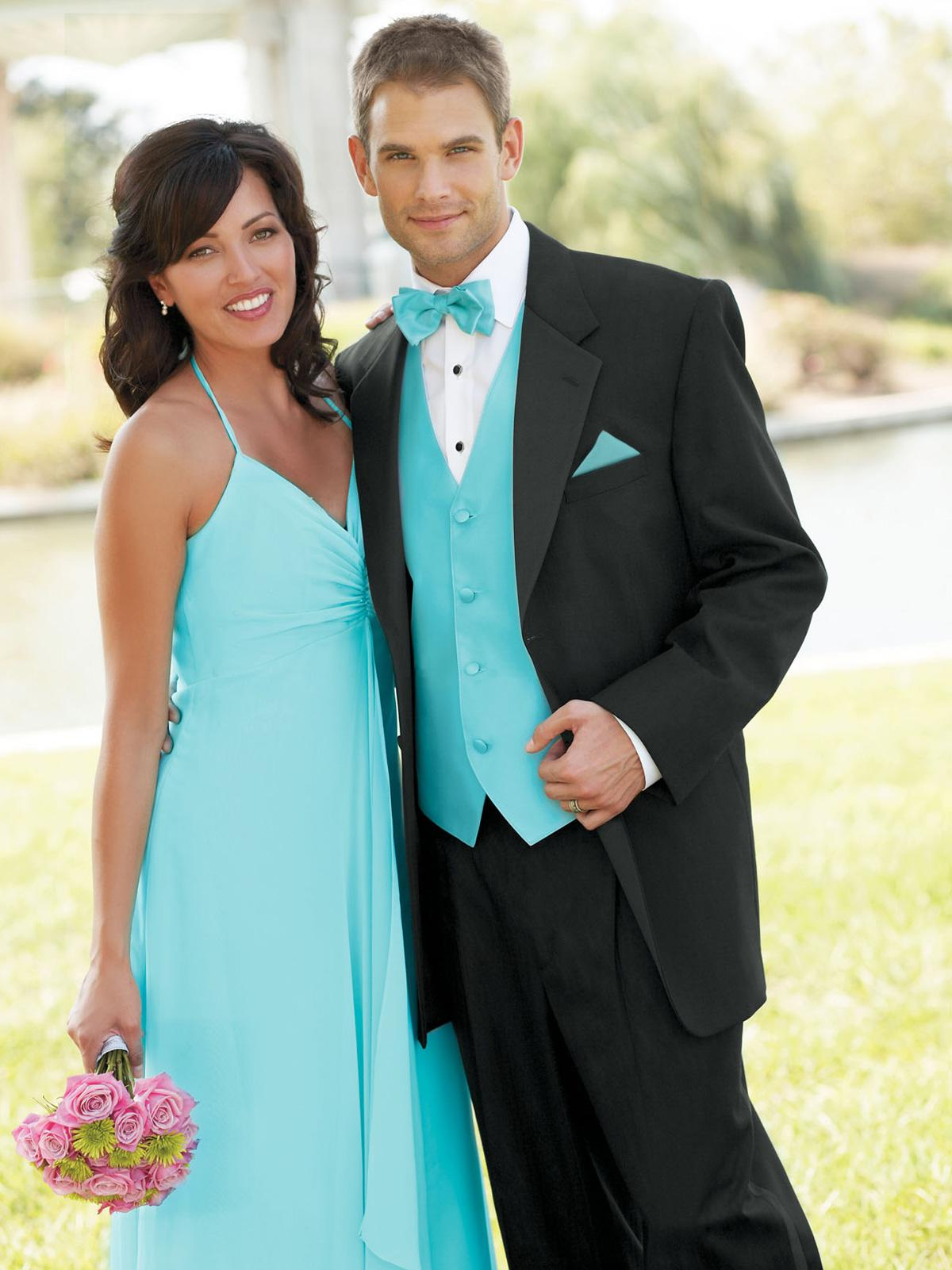 Black And Teal Suit - Go Suits