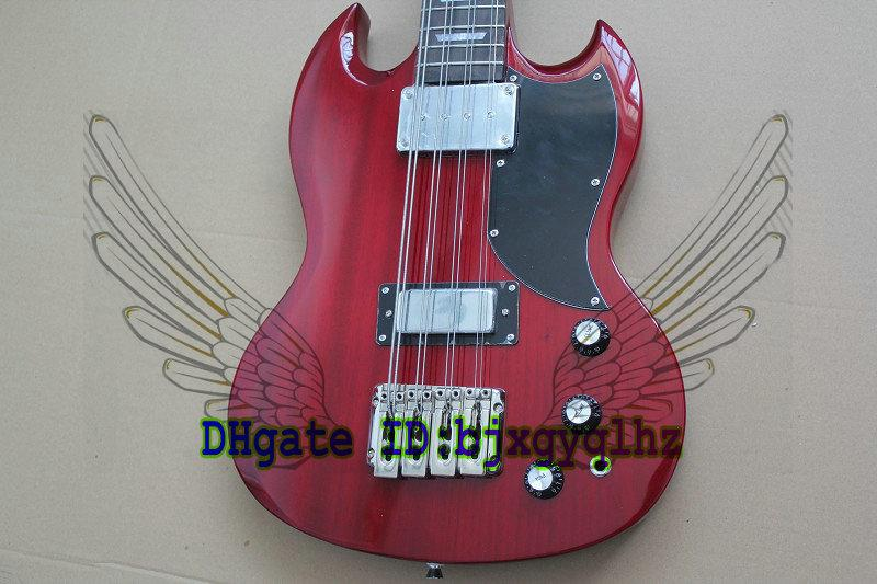 custom 8 strings electric bass guitar new style sg bass candy red color electric bass guitar. Black Bedroom Furniture Sets. Home Design Ideas