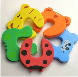 door baby holder Canada - 100Pcs Lot Child Baby Animal Cartoon Jammers Stop Door Stopper Holder Lock Safety Guard