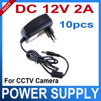 Wholesale Dc Power Supply Amp - 2 Amp 12V DC 2A CCTV Security Camera POWER SUPPLY ADAPTER