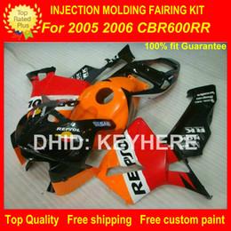 Custom Body Honda Cbr Australia - Custom Injection ABS fairing kit for HONDA CBR600RR 2005 2006 CBR-600RR 05 06 F5 05 06 fairings motorcycle body work orange red REPSOl
