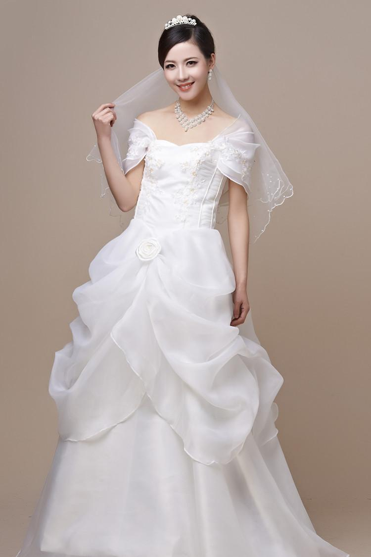 Hot sale wedding dresses heavy forging ladies hand made for Wedding dresses for small women