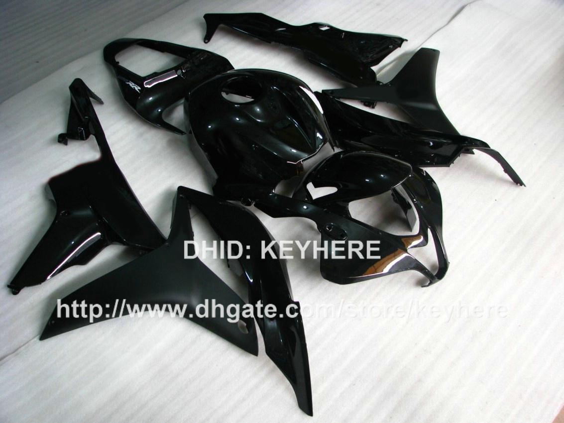 Piezas de la motocicleta carenados Inyección para HONDA CBR600RR 07 08 CBR 600RR 2007 2008 F5 05 06 kit de carenado motocicleta conjunto de trabajo del cuerpo negro G3b