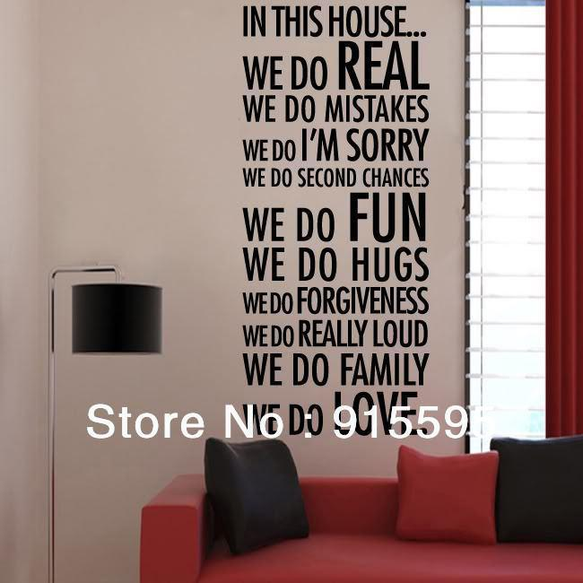 In This House We Do Lovefamily Quotes Vinyl Wall Decals/Removable Wall Decor Sticker Wall Art Decal Wall Art Decal Stickers From Wwwonccc $11.95| Dhgate. & In This House We Do Lovefamily Quotes Vinyl Wall Decals/Removable ...