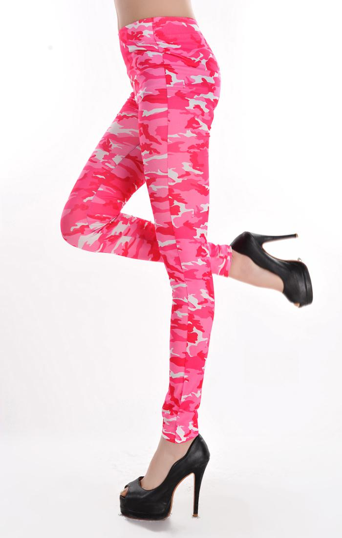 784a511c3264b ... New Fashion Wholesale Sweet Pink Camouflage Printed Womens Leggings  Coloured Drawing or pattern Skinny Pants H198