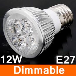 $enCountryForm.capitalKeyWord Canada - SUPER Bright CREE 12W 4x3W Dimmable E27 Led Light Lamp Spotlight led bulb warm white 3000k CE ROHS 110V-240V energy saving Spotlight bulbs