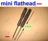 Wholesale cell phones prices for sale - Group buy 2 Mini Flathead screwdriver Straight screwdriver Slot type Slotted Screw driver for iPhone Cell phone Factory price