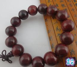 Wholesale Goodwood New - New Goodwood Nyc Good Wood Bracelet Rosary Wood Beads Bracelet Sandalwood Bracelet With Buddha Tower Unisex Jewelry 1.5cm Beads GJ3