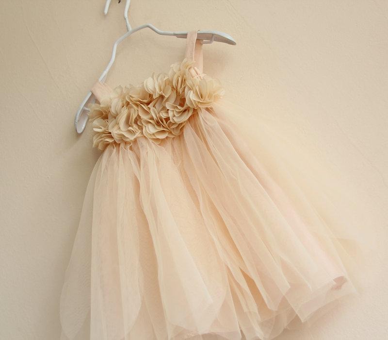 Baby Girls Petal Tulle tutu WHITE lace dresses Kids girl Strap Princess Dress tank tops vest summer children's clothes