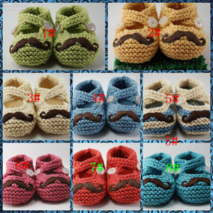 Wholesale Beard shoes Crochet baby boy baby girl shoes shoes toddler shoes baby shoes pairs Fit Babies aged months