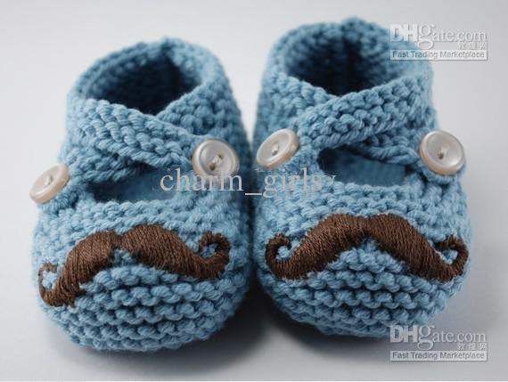 scarpe Beard Pattini di bambino Crochet scarpe scarpe scarpe scarpe bambino bambino bambino bambina 4 coppie Fit I bambini di età compresa tra 0-12 mesi