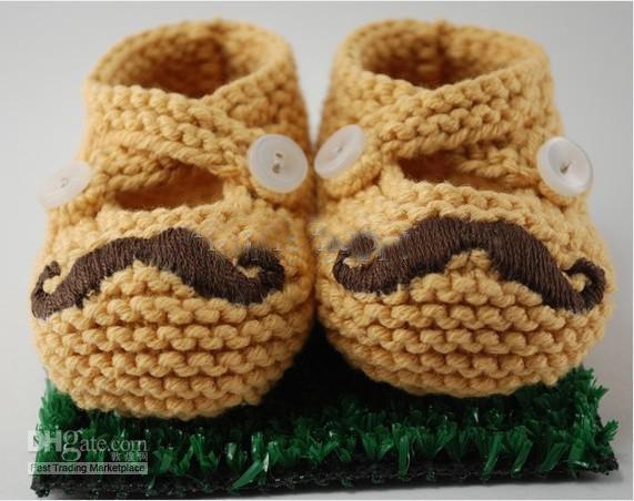 Großhandel Bart Schuhe Babyschuhe Häkeln Baby Boy Baby Mädchen