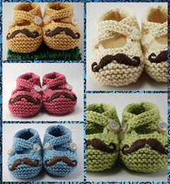 pair boys shoe Australia - Mixed colors Beard shoes Baby shoes Crochet baby boy baby girl shoes shoes toddler shoes baby shoes 20 pairs Fit Babies aged 0-12 months