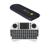 tastaturstöcke großhandel-MK809 II Android 4.1 Mini-PC-Fernsehstock Rockchip RK3066 1.6GHz Doppelkern 1GB RAM 8GB Bluetooth mit drahtloser Tastatur Touchpad