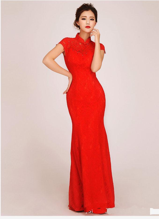 Großhandel New Design Chinesisches Kleid Chinese Cheongsam Frauen ...