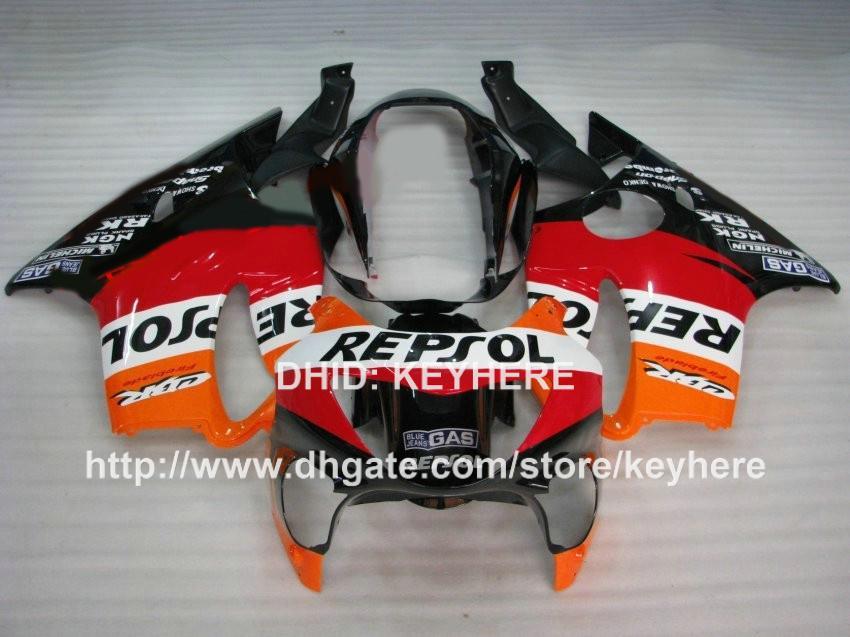 Custom race fairing kit for HONDA CBR 600 1999 00 CBR600 1999 2000 F4 99 fairings motorcycle bodywork set aftermarket orange red REPSOL G3b