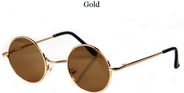 acheter objectifs john lennon lunettes de soleil ronde hippie shades retro smoked m tal or noir. Black Bedroom Furniture Sets. Home Design Ideas