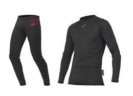 Wholesale Breathable Undershirt - black Racing Classic Motocross Suit motorcycle jersey moto clothing sweater set Split undershirt sets size :M,L,XL