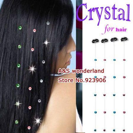 Crystal diamond clip in on hair extension womens fashion feather crystal diamond clip in on hair extension womens fashion feather clip in hair extensions 100pcs pmusecretfo Choice Image