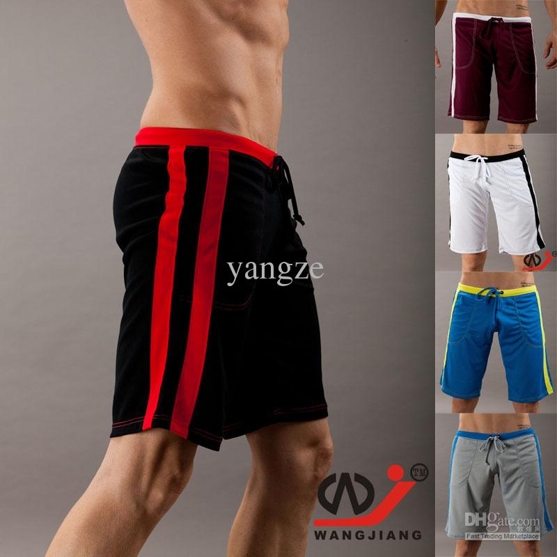 146f34d992da Hot Men s Sports Shorts Half Middle long Household Trunks Shorts QuickDry gym  shorts trunks Sof Sweat Mesh Breathable fabric 7062