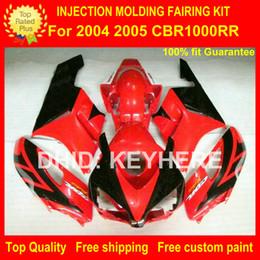 Honda Custom Parts Canada - Custom ABS fairing kit for HONDA CBR1000RR 04 05 CBR-100RR 2004 2005 fairings motorcycle parts bodywork set high grade red black G1b