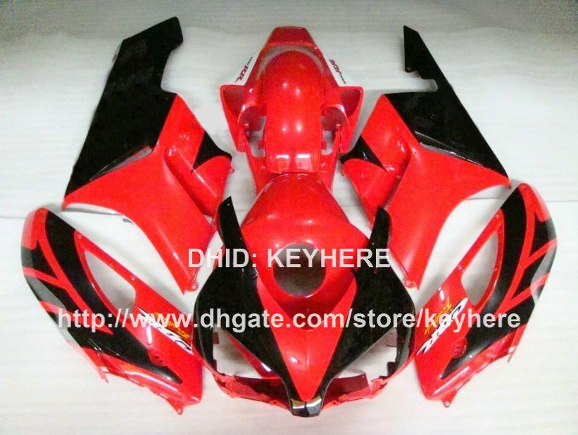 Kit carena ABS custom carrozzeria HONDA CBR1000RR 04 05 CBR-100RR 2004 2005 carene parti carrozzeria set nero rosso G1b