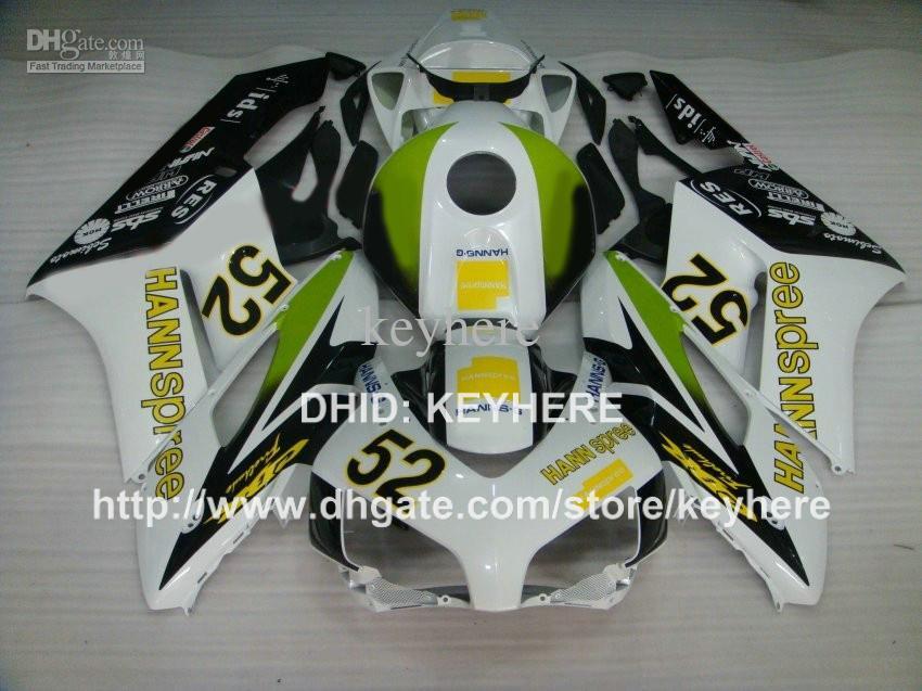 Kit carena ABS custom carrozzeria HONDA CBR1000RR 04 05 CBR-1000RR 2004 2005 carene parti moto set di alta qualità HANNspree green G4b