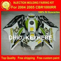 Wholesale Motorcycles Custom Parts - Custom ABS fairing kit for HONDA CBR1000RR 04 05 CBR-1000RR 2004 2005 fairings motorcycle parts bodywork set high grade HANNspree green G4b