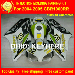 China Custom ABS fairing kit for HONDA CBR1000RR 04 05 CBR-1000RR 2004 2005 fairings motorcycle parts bodywork set high grade HANNspree green G4b suppliers